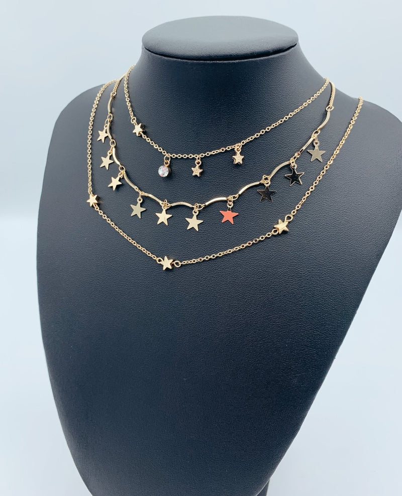 Three Piece Layered Necklace