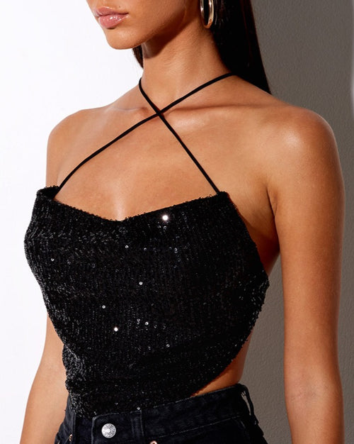 Lexi Sequin Crop Top