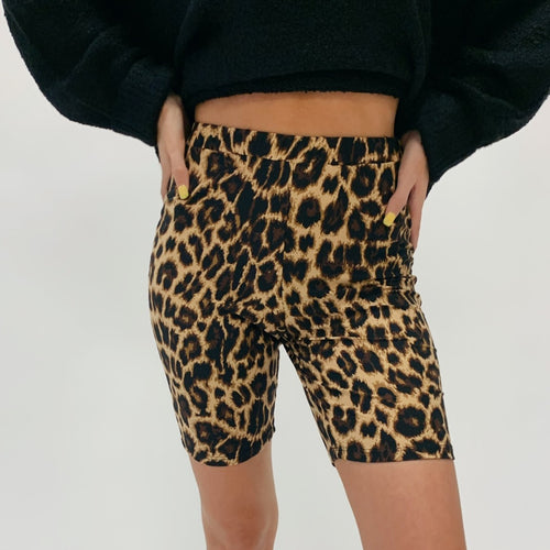 Cheetah Print Biker Shorts