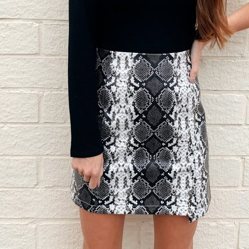 Michelle Snakeskin Skirt