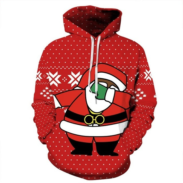 Funny Christmas 3D Printed Hoodies - Foxeey