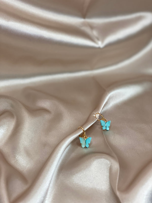 Sky Blue Butterfly Earrings