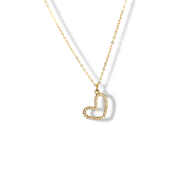 .925 Slanted Heart Necklace
