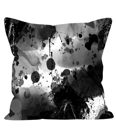 Abstract Black and White Cushion