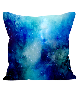 Space Inspired Watercolour Cushion No1