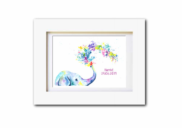 Rainbow Baby Elephant - Can Be Personalised