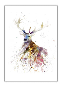 Stag Watercolour Original Art Print - A5 or A4 - Unframed