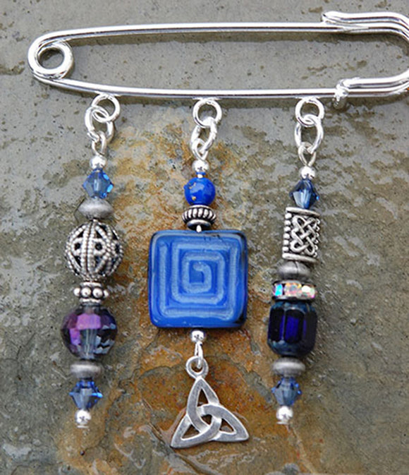Lapis with Celtic Trinity Knot Pin