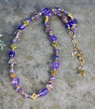 Gold and Amethyst Gemstone Necklace