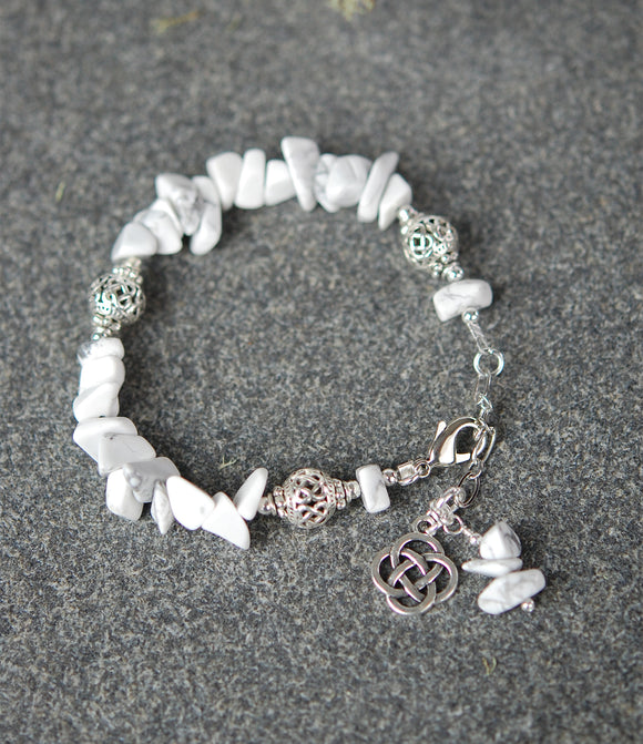 Howlite with Celtic Knots Bracelet
