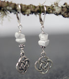 Howlite with Celtic Knots Earrings