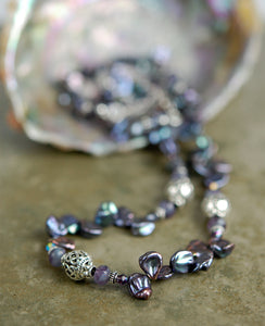 Deep Lavender Freshwater Pearl Necklace