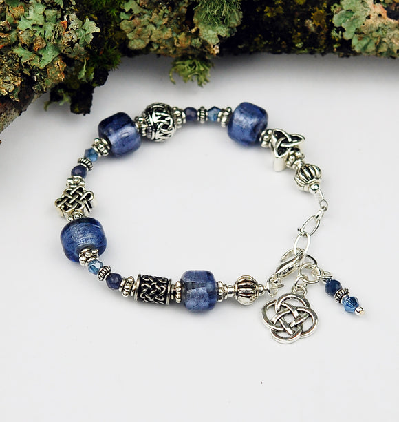 Celtic Symbols Bracelet with Sapphires