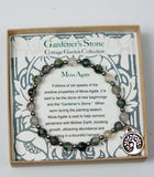 Gardener's Stone Bracelet with Tree of Life and Bird