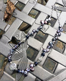 Deep Lavender Pearls with Celtic Knot Center Focal Point