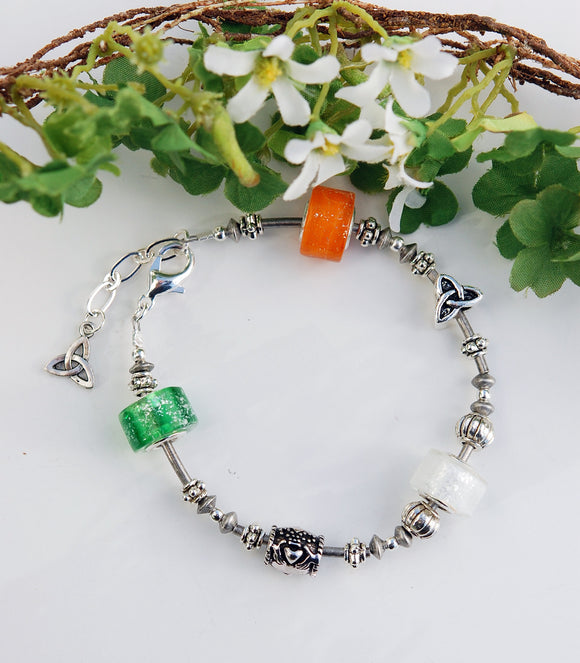 Tricolors of Ireland Single Bracelet