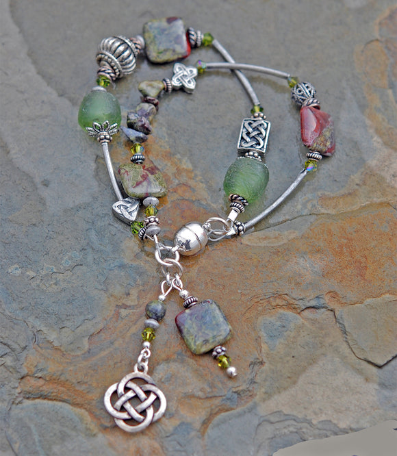 Celtic Dragon Double Strand Bracelet