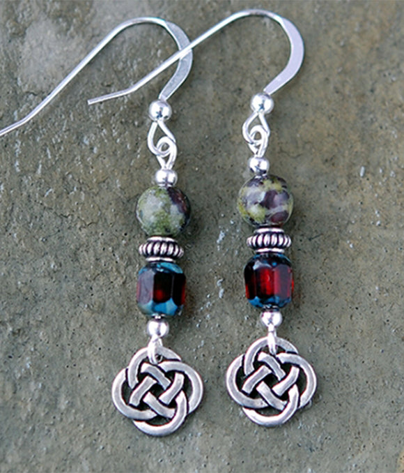 Celtic Dragons Blood Jasper Earrings