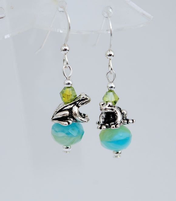 Celtic Frog Earrings