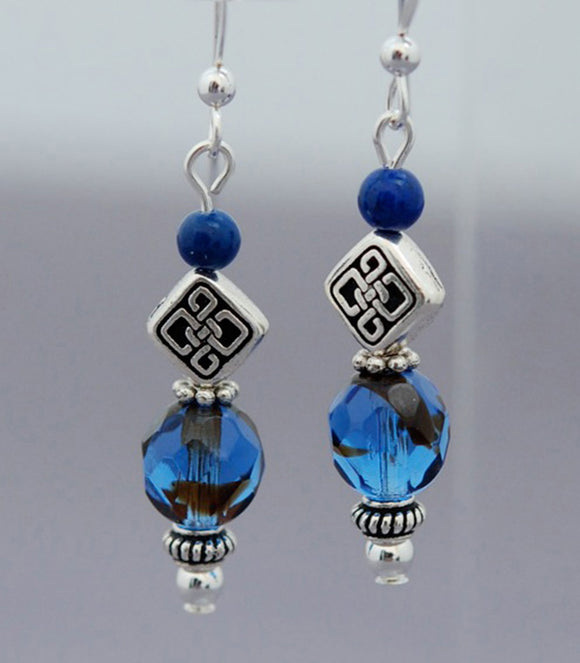 Lady of the Lake Lapis Earrings