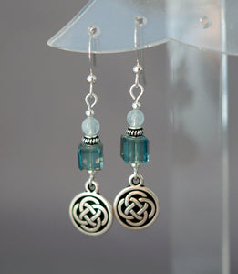 Spirit Journey Celtic Disk with Aquamarine