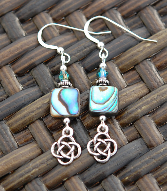 Mother-of-Pearl with Round Celtic Knot