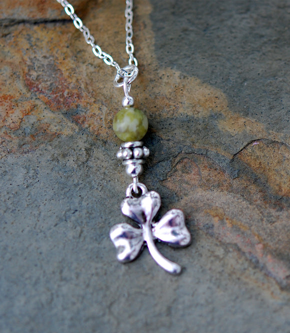GS521 Connemara Marble with Irish Shamrock