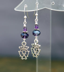 Amethyst with Scottish Luckenbooth Earrings