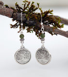 Solid Coin Tree of Life with Connemara Marble