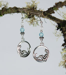 Mermaid in Ocean Grotto with Aquamarine