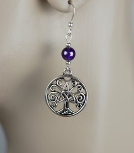 Amethyst with Trinity Tree of Life
