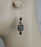 Black Onyx with Picasso Tile Bead