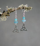 Rondelle Aquamarine with Celtic Triknots