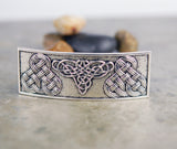 Celtic Knot Rectangle Hair Barrette