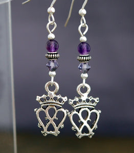 Scottish Luckenbooth and Amethyst Earrings