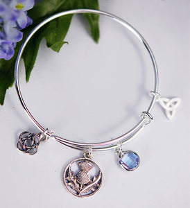 Girl's Scottish Thistle Bracelet