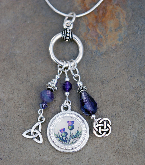 Celtic Legend of the Scottish Thistle Pendant