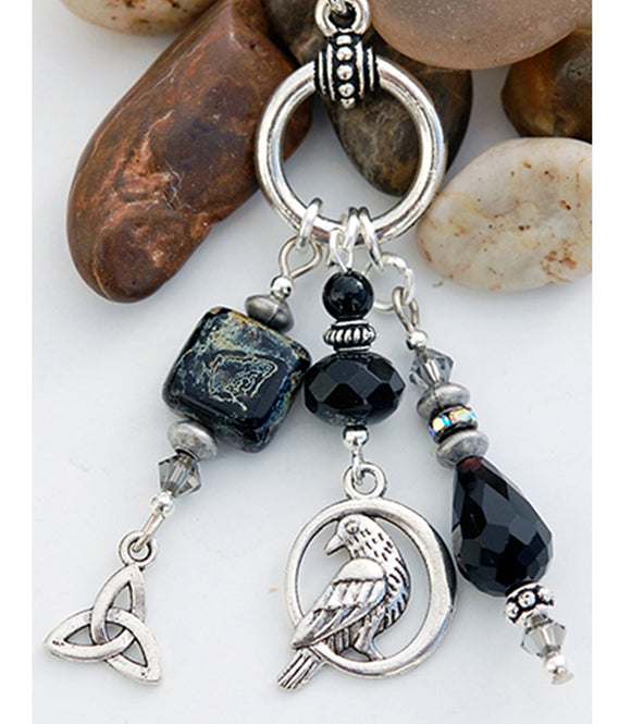 Legend of the Celtic Raven Pendant with Black Onyx