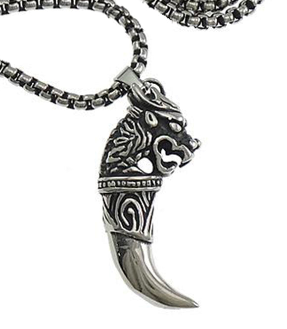 Stainless Steel Celtic Wolfhound Pendant