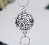 Crystal and Round Celtic Knot Christmas Ornament