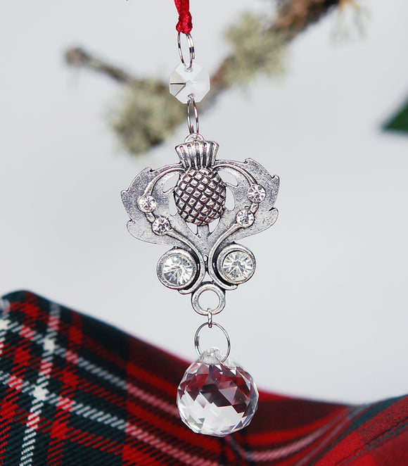 Scottish Thistle Christmas Ornament