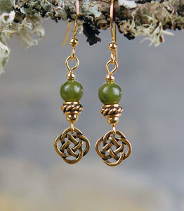 Sacred Numbers Earrings in Antique Gold