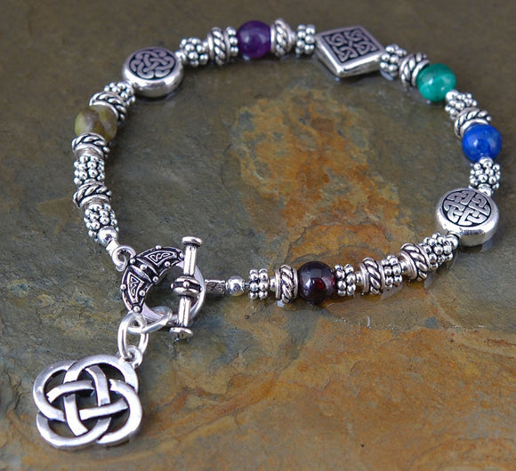 Sacred Numbers Celtic Bracelet with Toggle Clasp