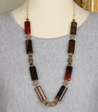 Stunning Spider Agate and Smoky Quartz Necklace
