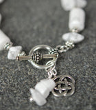Howlite with Celtic Knots Toggle Bracelet