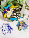 "All Might ""Be A Hero"" Charity Pin"