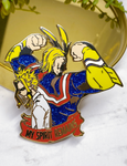 "All Might ""Spirit Remains"" Enamel Pin"