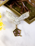 """Chocolate Frog Owl"" Enamel Pin & Charm"