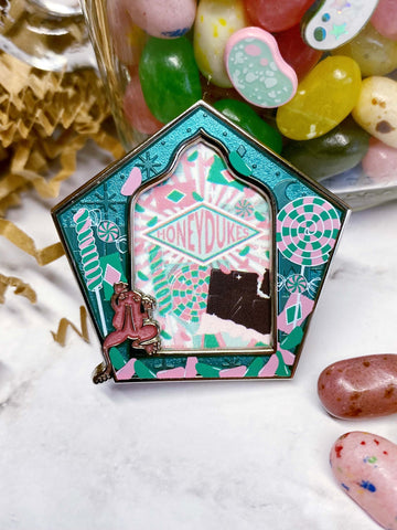 "Candy Shop ""Wizard Card"" Enamel Pin"