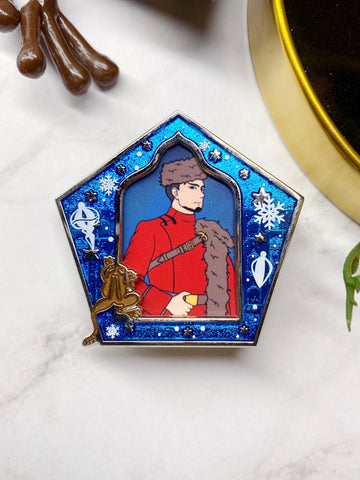 "Limited Edition Yule Ball ""Wizard Card"" Enamel Pin"